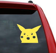 Pokemon Pikachu Anime Car Window Decal Sticker 001