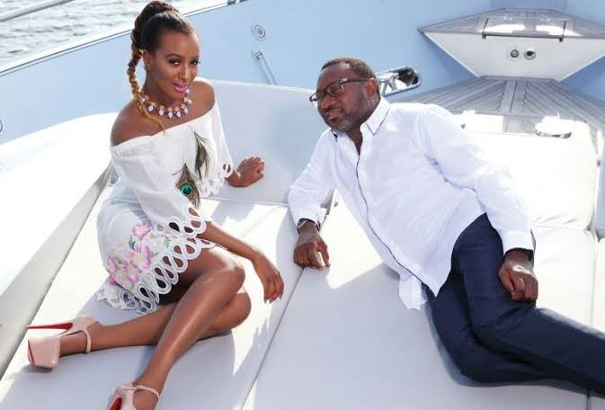 Image result for dj cuppy and dad""
