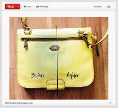how to remove jean stains from purse