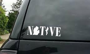 Native Michigan Vinyl Decal Sticker 4 99 Picclick