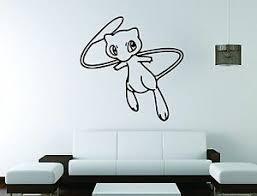 Mew Pokemon Wall Mural Vinyl Decal Sticker Decor Legendary Gamer Kids Room Ebay