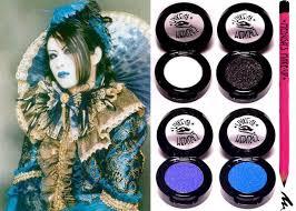 goth electro glam eye shadows