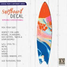 Fluid Art Surfboard Wall Decal Jennifer Mccully