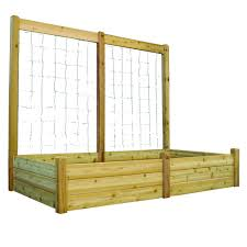 Tuin En Terras 2 Pack Cedar Trellis Garden Bed Fence Greenes Fence Critter Guard 47 75 In Manden Potten Actumma Com