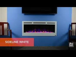steel recessed electric fireplace