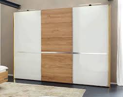 white gloss wardrobe with mirror
