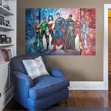 Amazon Com Fathead Justice League Mural Huge Officially Licensed Dc Removable Graphic Wall Decal Home Kitchen