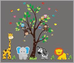 Kids Room Wall Decals Baby Nursery Decor Zoo Animal Kids Room Nurserydecals4you