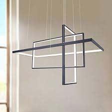 leniure black square cube led light