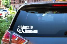 Muscle Brigade Car Window Decal Etsy