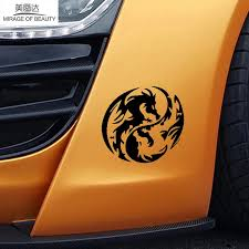 Mysterious Ancient Tribal Dragon Totem Yin Yang Funny Car Sticker For Truck Window Bumper Home Car Cover Vinyl Decal Stickers For Vinyl Decalstickers Stickers Aliexpress