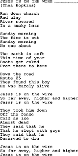 Peter Paul And Mary Song Jesus Is On The Wire Lyrics