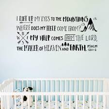 Psalm 121v1 2 Vinyl Wall Decal I Lift Up My Eyes To The Mountains
