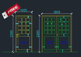 aluminium doors and windows dwg cad