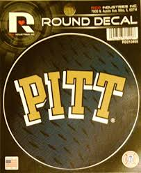 Amazon Com Pittsburgh Panthers Pitt 4 Round Decal Bumper Sticker University Of Automotive