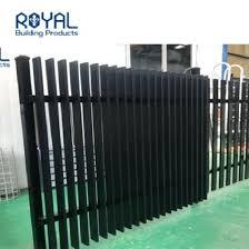 China Black Metal Aluminum Profile 3d Welded Blade Fencing Panels China Aluminum And Slat Price