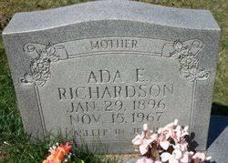 Ada Elliott Richardson (1896-1967) - Find A Grave Memorial