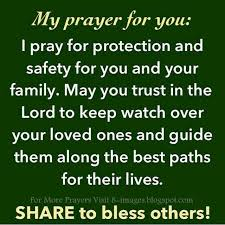 prayer for protection and safety for you and your family quotes