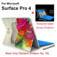 2017 Hot Sale For Surface Pro 4 Tablet Vinyl Decal Netbook Brain Skin Stickers Explosion Proof Tempered Glass Screen Protector In Tablet Decals From Computer Office