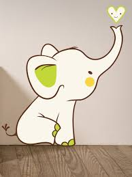 Baby Room Elephant Wall Decal Uk Etsy Art Girl Canada Personalised Vamosrayos