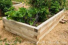 raised beds made out of 4x4 lumber