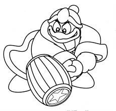 Kirby King Dedede Coloring Page Coloring Pages Free Coloring