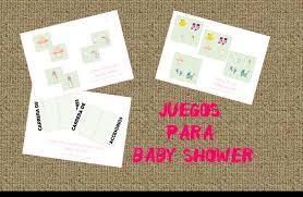 juegos de baby shower para imprimir
