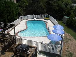 Vinyl Pool Fence And Vinyl Pool Fencing By A Vinyl Fence And Deck Wholesaler Backyard Fences Front Yard Fence Easy Fence