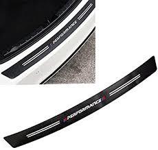 Amazon Com Xoitc Tech Car Trunk Carbon Fiber Texture Decal Rear Bumper Guard Protector Decor Sticker Vinyl Decal Sport Performance For Bmw X1 X 2 X3 X 4 X5 X 6 Length 39 7 101cm Automotive