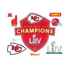 Kansas City Chiefs Fathead Super Bowl Liv Champions Logo Wall Decal Walmart Com Walmart Com