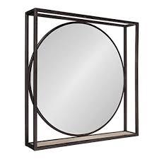 square mirror with black frame com