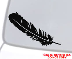 Feather Vinyl Decal Car Window Wall Bumper Laptop Native American Indian Symbol For Sale Online