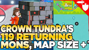 All 119 Returning Pokemon, Crown Tundra Map Size, & More Datamined - Pokemon  Sword and Shield DLC - YouTube