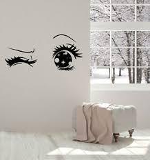 Vinyl Wall Decal Anime Cartoon Eyes Wink Teen Girl Room Art Stickers G2324 Ebay