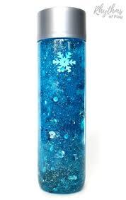 diy frozen inspired snowstorm glitter