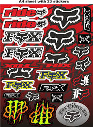 Fox Stickers Race Stickers Auto Decals Helmet Decal Motorcycle Graphics Tuning Sticker Bomb Wallpaper Motorcycle Stickers Sticker Design