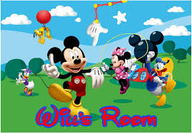 Mickey Mouse Friends Personalized Name Wall Sticker Mural 3 Ft Wide