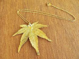 japanese maple real leaf 24k gold