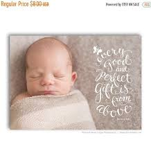 birth announcement card bible verse christian themed baby