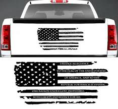 Pledge Of Allegiance Distressed American Flag Window Decal Fits Jeep Ford Dodge Ebay