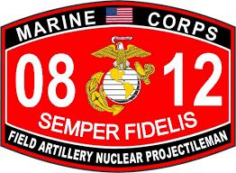 Amazon Com Field Artillery Nuclear Projectileman Marine Corps Mos 0812 Usmc Us Marine Corps Military Window Car Bumper Sticker Vinyl Decal 3 8 Automotive