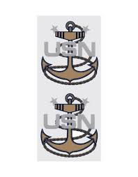Navy Master Chief Petty Officer Cpo Rank Emblem Decal 2 Piece Midtown Military