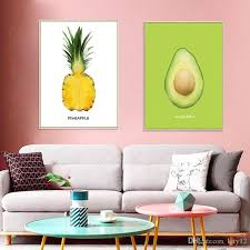 Pineapple Avocado Wall Sticker For Family Room Home Decor Party Decor Nursery Wall Decal Mural Wallpaper White Wall Stickers Word Wall Art From Qiansuning88 7 96 Dhgate Com