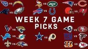 Week 7 NFL Game Picks