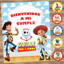 Kit Imprimible Toy Story 4 Decoracion Cumpleanos Candy Bar