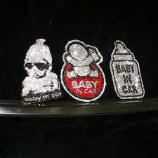 Baby In Car Bling Sticker Decal Carsoda