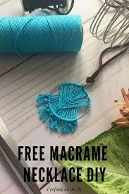 easy beginner macrame necklace diy