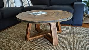 round recycled timber rustic coffee