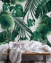 Tropical Jungle Leaves Dream 7 Wallpaper Tropical Bedroom Decor Jungle Wallpaper Tropical Bedrooms