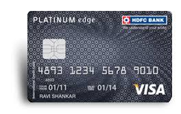 platinum edge credit card check out